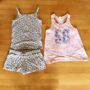 H&M shortssæt og sommertop str 152 cm sælges samlet