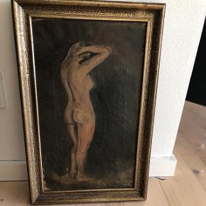 Fantastisk smuk maleri af en nøgen kvinde, rammer ind. Mål; Højde: 48cm Bredde: 31cm  Prisen er fast!  ⭐️Se også mine øvrige annoncer⭐️
