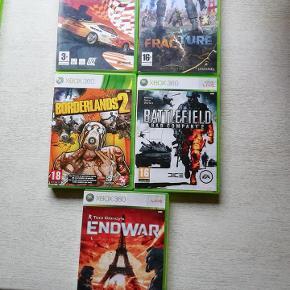 XBOX360 spil. 10 kr. stk. Min. køb er 3 spil hvis de skal sendes.