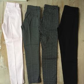 4 par slacks fra H&M🌸 Aldrig brugt, de sorte er brugt en enkel gang.  De ternede er str. 34. De andre tre er str. 36.  Samlet pris: 200 kr🌸