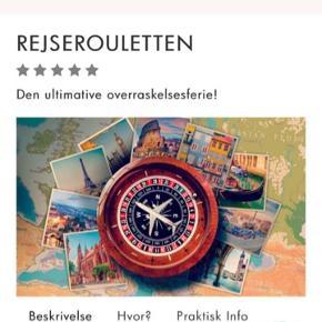 Hej  Jeg sælger en gavekort til en Rejse  Værdi af 2395kr  Gavekortet indholder : 2 overnatninger i 3 stjerne hotel og 2 flybilletter  Skriv endelig gerne pb hvis du vil vide mere :))  Byd byd byd