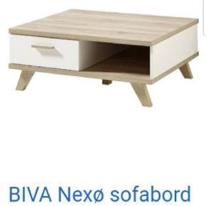 Super lækker sofa bord fra biva  Bordet hedder nexø Købt for en måned siden har smidt kassen ud men passer ikke ind til min stue derfor sælger jeg den Nypris 2000 kr
