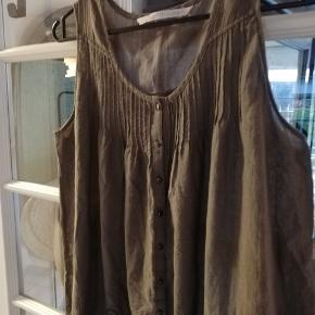 Bomuld, tunika eller kort kjole, str large/40-42