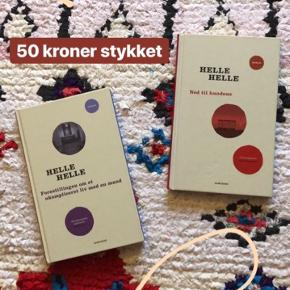 Ned til hundene & Forestillingen om et ukompliceret liv med en mand af Helle Helle. 50 kroner stykket. Fast pris.