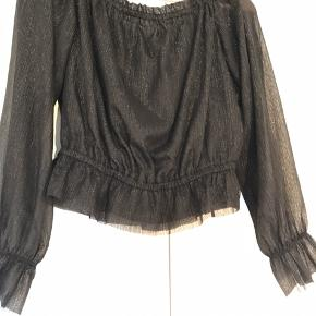 Sort glimmer trøje fra H&M. Brugt sidste nytår ellers aldrig. Ingen skader.