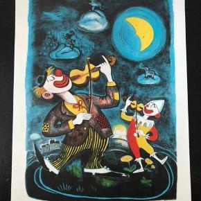"""Litografisk tryk af Kirsten Henriksen  Udgivet i """"Børnenes kunstmappe"""" 1987  Størrelse: 24x34,5 cm.   Sender gerne..."""