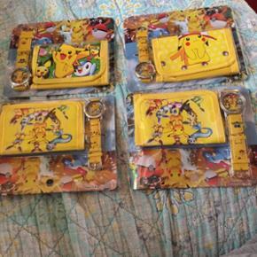 Lille smart pung og ur med Pikachu på pung og ur Kan hentes i Herning for 90 kr eller kan sendes så er prisen 109 kr