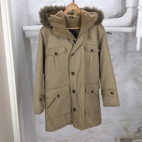 Original parka coat jakke med lammeskindsfor. Vintage.