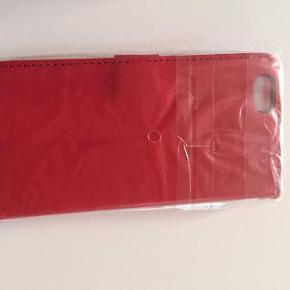 Rød cover til iphone 6 imiteret skind bytter ikke mp100pp  telefoncover til 6er Farve: -
