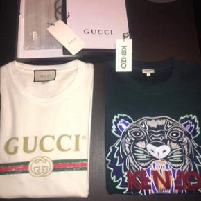 Gucci t-shirt sælges da den er lidt for stor til mig.  Jeg er selv 1.80 og den er en smule for stor   Ny pris: 2600   Alt OG følger med.   Fremstår som ny.