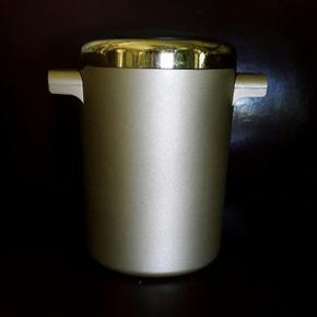 Vintage/ Design Innoplan/ Marque suisse déposée Seau réfrigérant or métallisé/ haut. 20cm Parfait état