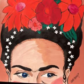 Frida Kahlo maleri, måler 30x40cm🌿🌸  + forsendelse med DAO   Instagram: LeEuropa_Paintings