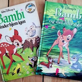 To bøger fra Walt Disney  Bambi finder hjem Bambi og det lille egern Brugt få gange og i fin stand Porto 37 kr