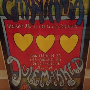 Christiania julemarked 1997.  I perfekt stand, i glas og ramme.  50 x 70 cm.