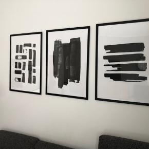 3 stk. plakater inkl. rammer. 50x70 cm  Afhentes i Valby.