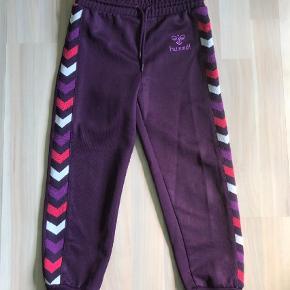 Varetype: bukser Farve: lilla  Lilla Hummel bukser str. 116.  brugt men i god stand og flot i farven.  Fast pris.    ved ts handel betaler køber ts gebyr.  kan sendes med dao a 37 kr.