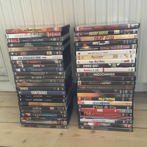 Mange forskellige DVD film sælges. Se titlerne på billedet.   15kr pr. film - mængderabat ved køb af 3 film eller flere.   Portoen er den samme uanset hvor mange film, du køber😉  Sender gerne med DAO, men du kan også hente kontaktfri med mobilepay😊