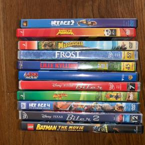 11 Disney film. Pris er pr film.