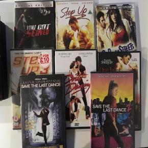 Diverse film: 2kr stykket You Got Served  Step Up Step Up 2  Step Up 3 (Engelsk) Dirty Dancing One Last Dance Save the last dance Save the last dance 2