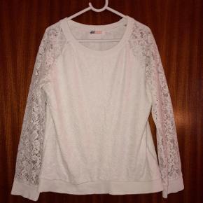 H&M hvid blondebluse str 134-140 cm 8-10 år.