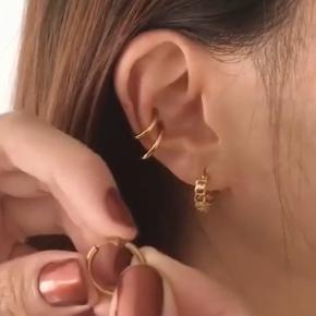 """Fine """"klemme"""" ørering som kan placeres hvor man vil - kræver ikke hul i øret. Ny og aldrig brugt."""