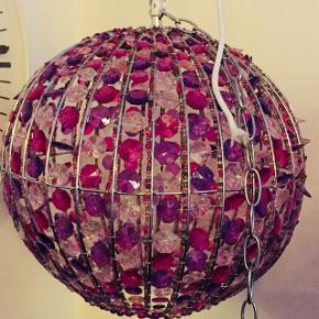 💎 Rigtig fin perle-loftslampe til pigeværelset 💕(Sender ikke denne, kun afhentning)