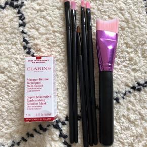 Clarins creme aldrig brugt + 6 børster fra ukendte mærker