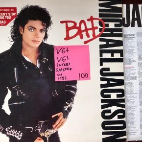 Michael Jackson bad vinyl lp plade til grammofon lækker stand med insert