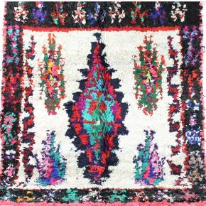 Boucherouite tæppe måler 215x140 cm