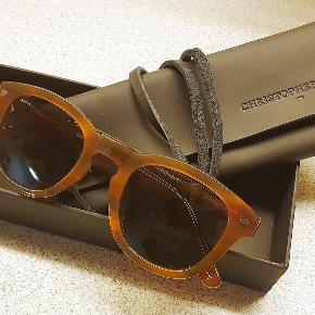 Lækre solbriller fra danske Christopher Cloos. Erhvervet i 2018, men aldrig brugt. Giv et bud.