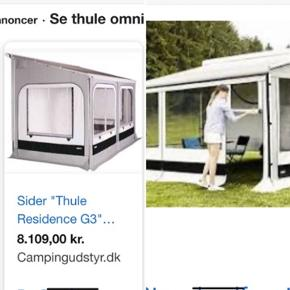 Sælger sider og front til Thule omnistore 6200 markise ,4m lang. Brugt 2x , sælger da vi har købt fast telt. Vi kan levere i hele landet, evt.
