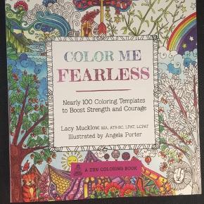 Malebog 'color me fearless' af Angela porter og lacy mucklow - helt ny og ubrugt - nypris 144kr.