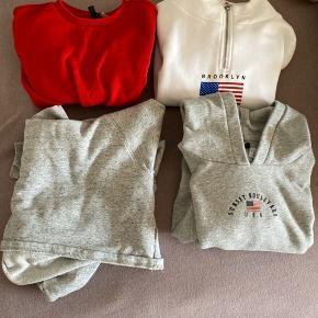 🥀 Forskellige hoodies/hættetrøjer 🌺De første tre er lidt croptop i det og er str xs og s. Den sidste er str m 🌸 Fejler intet, bruger dem blot ikke 🌻 Sender gerne