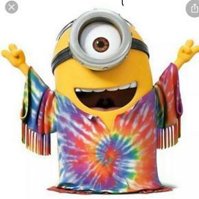 Minions Kevin som hippie. Ca. 45cm høj
