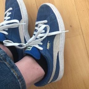 Mega fine blå Puma suede sko! Str 37 men passer OGSÅ en 36 :)
