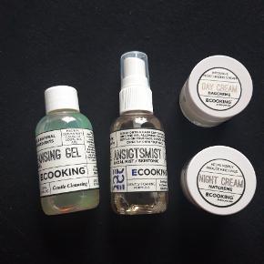 Aldrig brugt rejsestørrelse ecooking: cleansing gel, skintonic, day og nightcream