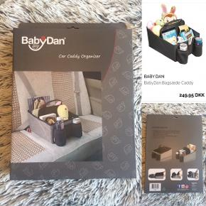 BabyDan til bil helt ny i uåbent æske (nypris 249 kr).   Sender selvfølgelig gerne hvis du betaler porto.