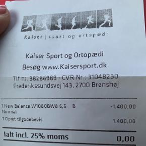 GAVEKORT - KAISERSPORTBELØB KR.1400,- sælges for kr.  1100,-