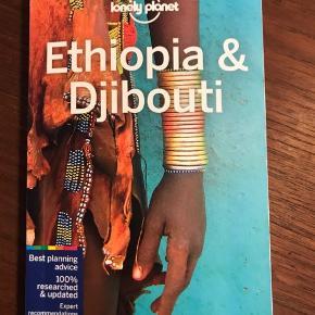 Lonely Planets nyeste rejsebog om Etiopien og Djibouti (6th Edition Sep 2017).  Aldrig brugt. På engelsk.  Kan hentes i København SV eller sendes (modtager betaler fragt).