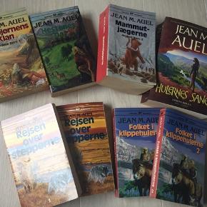8 stk Jean M Auel bøger sælges samlet til 100kr