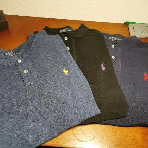 Har 3 Ralph Lauren poloer Alle fitter medium men en er large. 100 kr stk 3 for 250