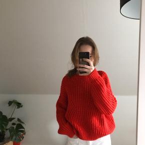 Rød strik fra H&M, super lækker kvalitet