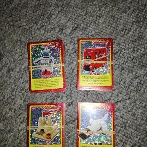 Legokort sælges samlet eller enkelt vis, det samme med glimmer kortene,   Der kan laves et blande lot med 10 forskellige kort til 25,-  Eller alle kort for 250,-   Ved interesse kan der tages ekstra billeder!