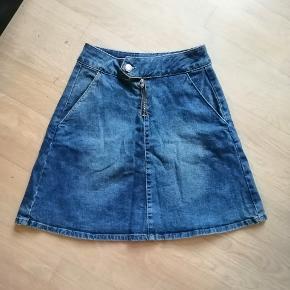 Cowboy nederdel med lommer i siderne