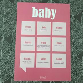 Baby plakater til børneværelset  Str. 21x30 cm  Pris pr. stk 30 - eller begge for 50,-  (Ramme medfølger ikke)