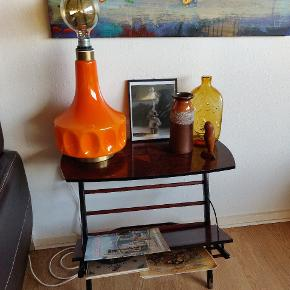Super flot orange glas bordlampe