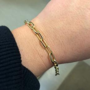 Pilgrim guld belagt armbånd 17,5 cm