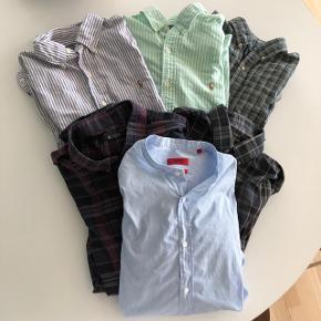 6 skjorter størrelse medium i fin stand.  Swipe for flere billeder.  3 fra Ralph Lauren 2 fra Tiger 1 fra Hugo Boss  Sælges samlet for kun 500 kr!🔥