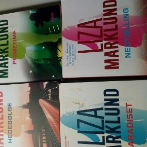 4 bøger af Liza Marklund sælges de ser ud som nye 50 kr på STK.