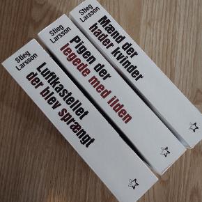 Stige Larsson triologien Sælges samlet for 80,- Sender med GLS
